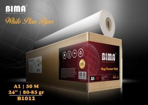 Kertas plotter BIMA White Plan Paper 80-85gr 24″ x 50m (A1)