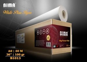 kertas plotter BIMA White Plan Paper 100gr 36″ x 50m (A0)