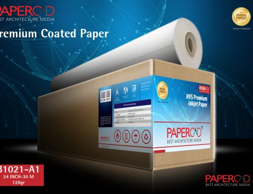 PAPERCAD Premium Coated Paper 128gr 24″ x 30m (A1)