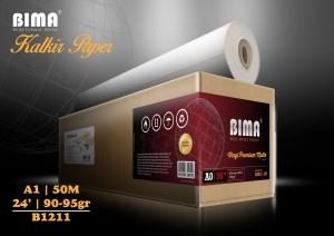 kertas plotter BIMA Premium Tracing Paper Kalkir 90-95gr 24 ″ x 50m (A1)