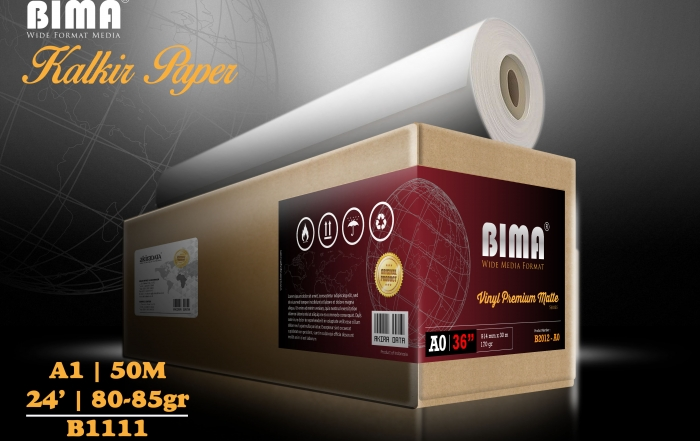 kertas plotter BIMA Tracing Paper  Kalkir 80-85gr 24 x 50m A1