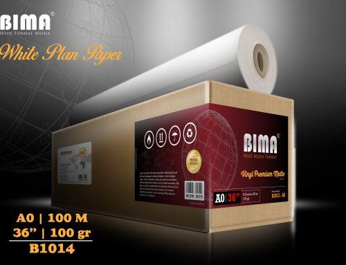 BIMA White Plan Paper 100gr 36″ x 100m (A0)
