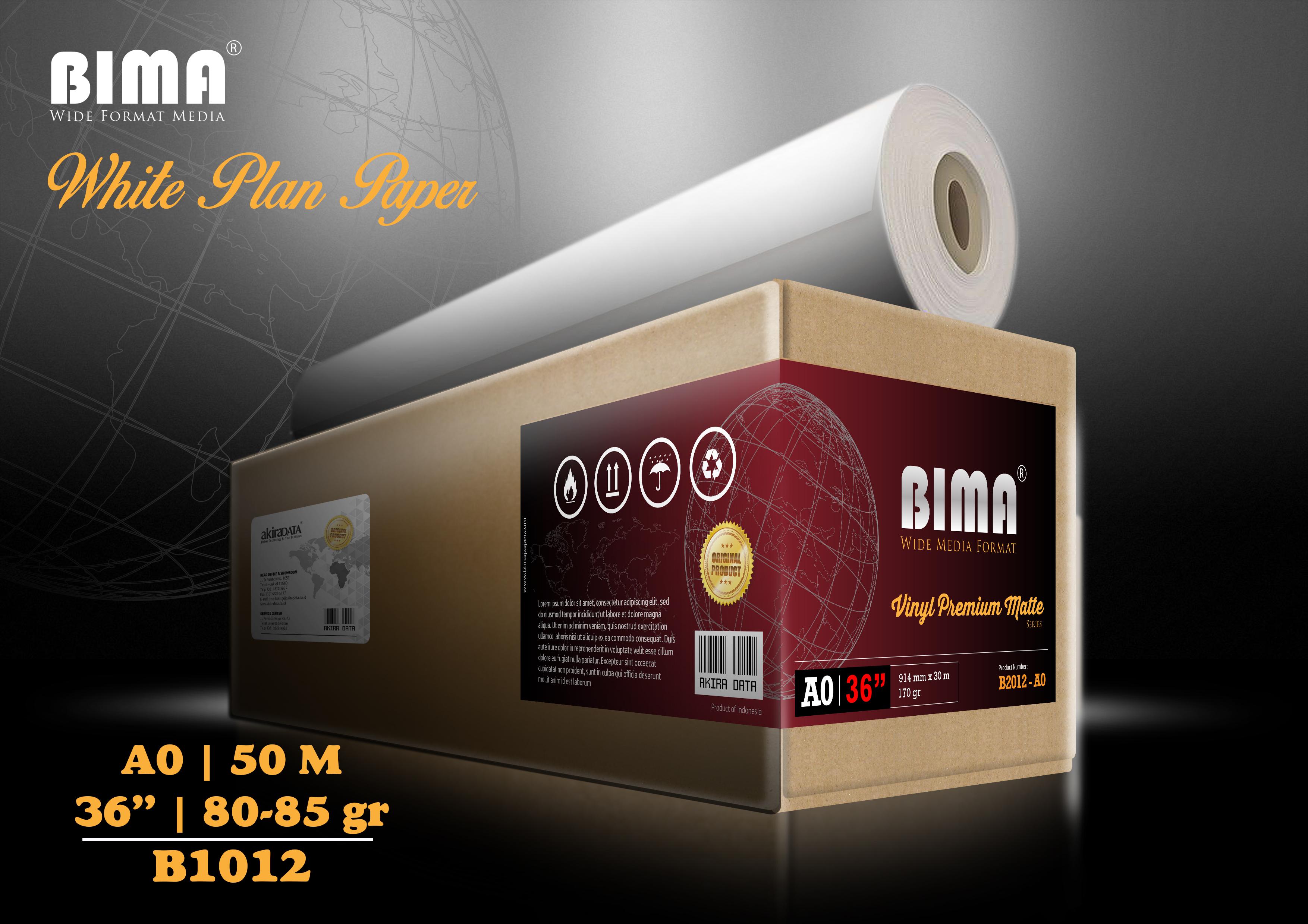 Kertas plotter BIMA White Plan Paper 80-85gr 36″