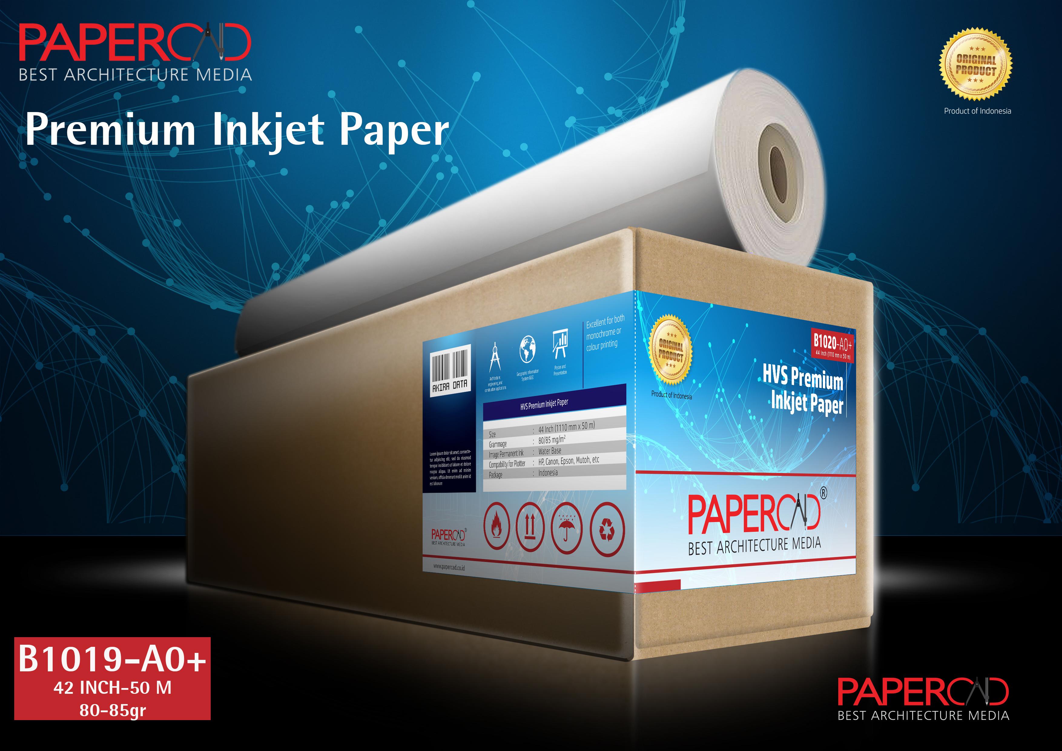 Kertas plotter PAPERCAD Premium Inkjet Paper 80-85gr 42″